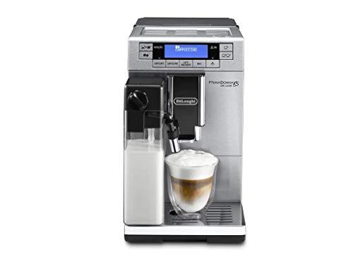 De'Longhi PrimaDonna XS ETAM 36.365.MB Kaffeevollautomat (Digitaldisplay, integriertes Milchsystem, Lieblingsgetränke auf Knopfdruck, Edelstahlfront, 2-Tassen-Funktion) silber/schwarz