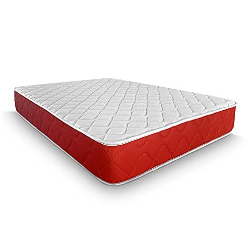 Duérmete Online Colchón Viscoelástico Lite Reversible, Firme y Confortable, Altura 23 cm, Cara Invierno Verano, Blanco, 90 x 190