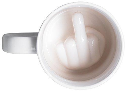 Taza de cerámica con efecto sorpresa - Blanco