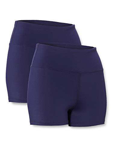 Amazon-Marke: AURIQUE Damen Sportshorts 2er Pack, blau (marineblau), 38, Label:M