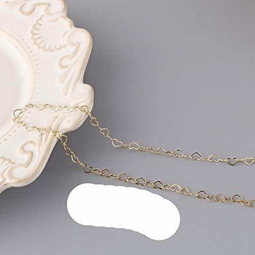 1m chapado en cobre 14K oro real amor cadena fina joyería borla pulsera hombres y mujeres collar DIY productos semiacabados-3.5mm 14 Kgold,1 metros