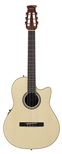 Ovation Applause Balladeer AB24CII-SPR Mid Depth Classical Guitar, Natural Spruce