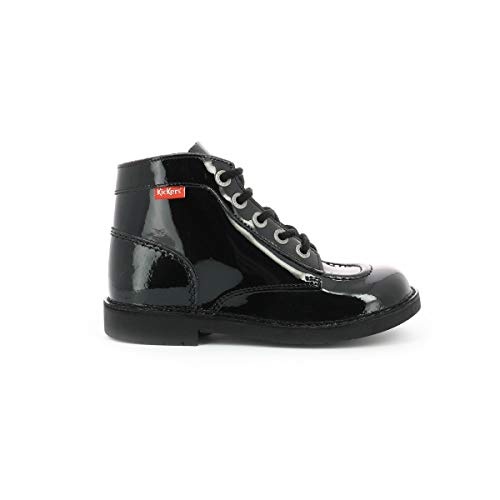 Kickers Mädchen Kick Col Combat Boots, Schwarz (Noir Vernis Perm 83), 28 EU