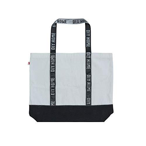 ANQIY - Bolsa de compras reutilizable, súper fuerte, lavable, bolsa de hombro con asa plana para mujeres y niñas
