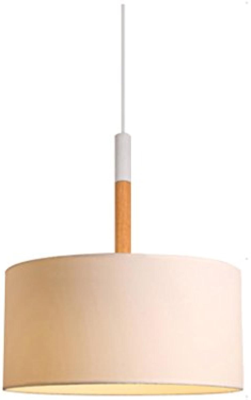 Die Erntesaison Einfache Schlafzimmer Lichter einzigen Kopf Stoffbezug Art Chandelier -E27 (farbe   Wei)