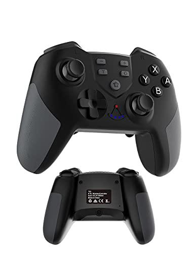 COWBOX プロ コントローラー スイッチ ライト Switch lite/Switch pro 15秒操作を完全再現できる 背面 ボタン 付き【COWBOX 2021年04月最新強化版】 連射 コントローラー 無線 Bluetooth ワイヤレス コントローラー ゲームパッド (T-23プロコン)
