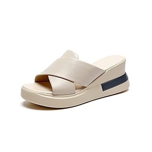 Liart Zapatos Verano Mujer 2021 Vestir Plataforma Cuña Sandalia con Pulsera Comodos Zapatos Sandalias de Mula con Punta Abierta