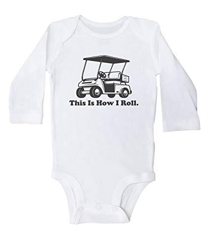 Promini Combinaison de golf avec inscription This is How I Roll Golf - Blanc - 12 mois