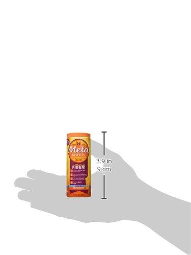 Metamucil Fiber, 4-in-1 Orange SugarFree Powder 72