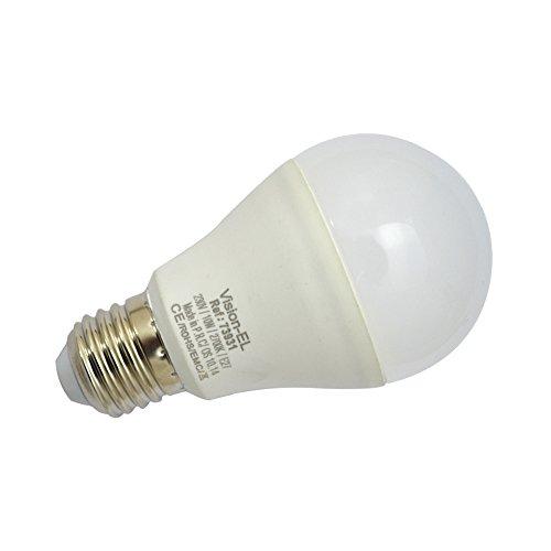 Vision-EL 773931 Ampoule LED E27 Bulb 12W 2700°K Aluminium/PC, 12 W, Dépoli