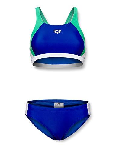 ARENA Damen Sport Bikini Ren, royal-Golf Green-White, 46