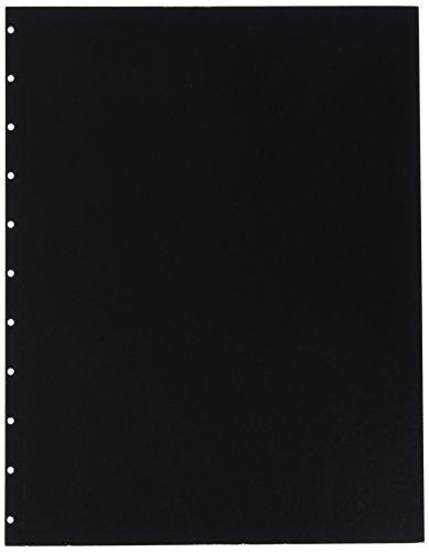 GBC VeloBind Leather Look Premium Presentation Covers, Non-Window, Square Corners, Black, 50 Pieces Per Box (9742230)