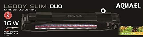 Aquael Leddy Slim Duo Sunny & Plant 16 Watt Aquarium Beleuchtung Schwarz