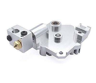 Apricot blossom 3D Printer Titan Aero V6 Upgrade Heatsink Kit Fit For 1.75mm 3.0mm Titan Extruder Reprap I3 E3D Hotend Radiator With Heating Block (Size : 1.75 set)