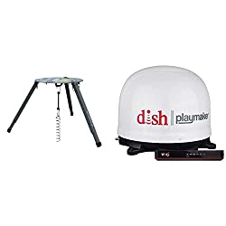 commercial Portable antenna with Winegard PL7000R Dish Playmaker Wally HD receiver and portable tripod mount dish network tailgater