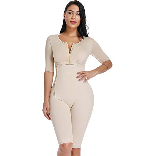 MISS MOLY Bodysuit Body Shaper Post Surgery Seamless Fajas Compression Garment Full Shapewear Nude L