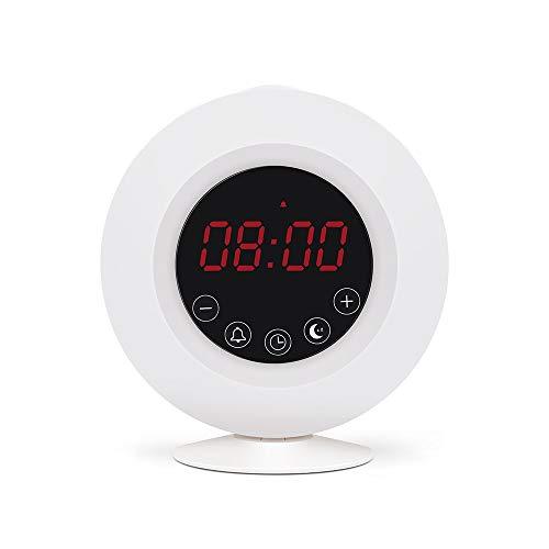LUCYYY Alarm Clock Bluetooth Speaker Radio Wekker Natuurlijke Elektronische Geschenken