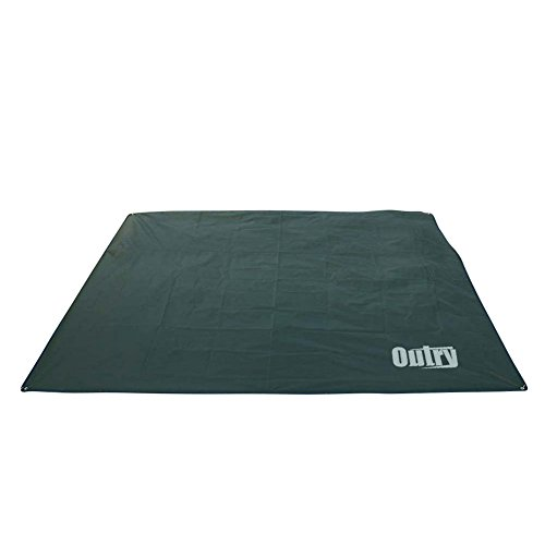 Outry Waterproof Multi-Purpose Tarp - Tent Stakes Included - Green- M - 5.9ft x 7.2ft / 1.8m x 2.2m, Lightweight Camping Picnic Ground Sheet Cover Cloth Mat Footprint Rain Fly Shelter Tarpaulin