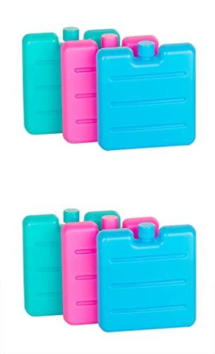 BigDean 6er Set Kleine Kühlakkus - Mini Kühl-Elemente für die Kühltasche - Kühl-Akku für die Brotdose & Lunchbox - Kühlpacks für unterwegs