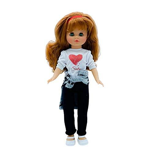 Muñeca Sintra 2021 Original 40 cm Personalizable con Foto, Nombre, aficiones. Diseño Corazón edición Limitada 100% Vinilo. Fabricada en España. Similar Nancy