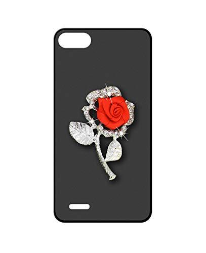 Sunrive Kompatibel mit Elephone S2 Hülle Silikon,Glitzer Diamant Strass Handyhülle matt Schutzhülle Etui 3D Hülle Backcover (Rote Rose) MEHRWEG+Gratis Universal Eingabestift