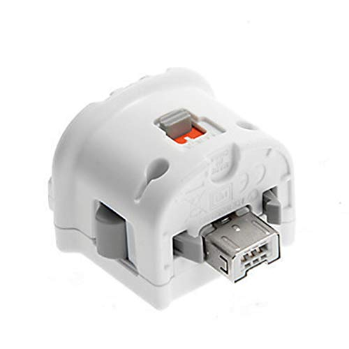 Pudincoco Hochwertiger Motion Plus Adapter Sensor für Nintendo Wii Konsole Fernbedienung Wiimote Controller Schwarz & Weiß (Farbe: Weiß)