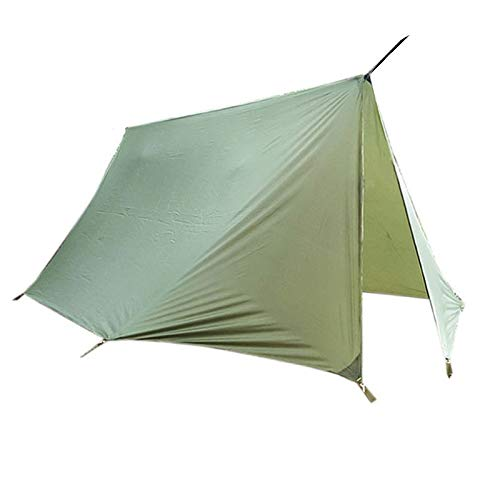 Qazwsxedc Tent Hammock Awning Camping Mat Shelter Sunshade Protection,Army Green