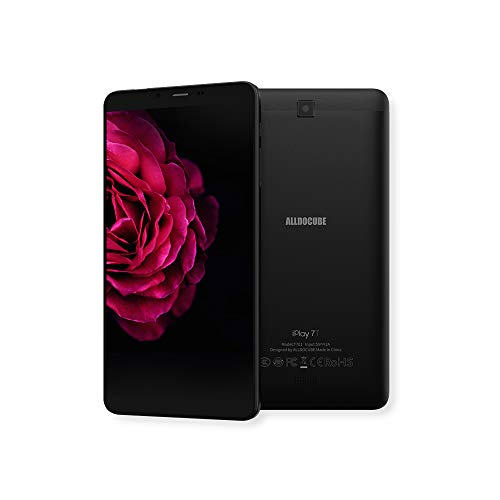 ALLDOCUBE iPlay 7T Tablet, 6.98' Pantalla 1280x720 IPS, 4G Dual SIM Card, 2GB RAM, 16GB ROM, Android 9.0, Cámara de 0.3MP/2.0MP, Negro