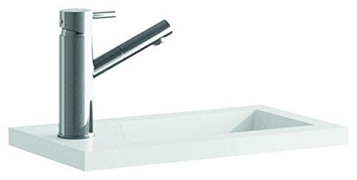 Cygnus Bath 1100122480 Lavabo carga mineral mini para lavamanos (40 cm), Blanco Brillo