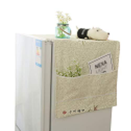Liangzhu Housse de Protection avec Poches de Rangement Réfrigérateur Machine À Laver Multifonction Imprimé Cache Poussière (Beige#3, 60 * 150 cm)