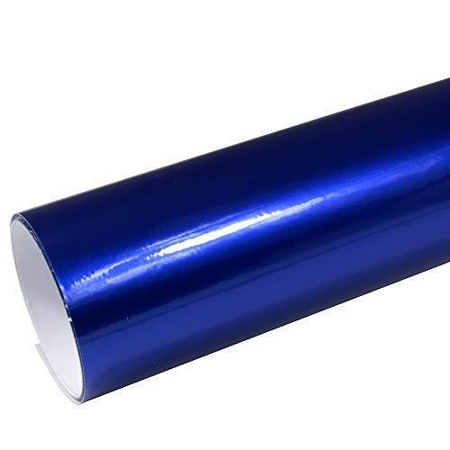 Rapid Teck® 8,55€/m² AutoFolie Serie z560 Candy Cosmo Blue Hochglanz 1m x 1,52m Blau selbstklebende Premium Car Wrapping Glanz Folie mit Luftkanal