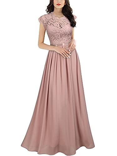 Miusol Women's Formal Floral Lace Evening Party Maxi Dress (Apparel)