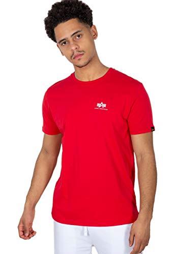 ALPHA INDUSTRIES Herren Backprint T Sweatshirt, Rot, XL