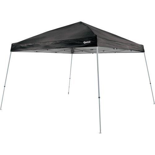 Quest 10 Ft. X 10 Ft. Slant Leg Instant Ez up Pop up Recreational Tent Canopy (Black)