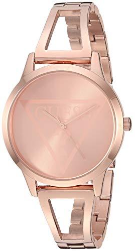 Relógio com logotipo Guess dourado com pulseira autoajustável. Cor: dourado (modelo: U1145L4)
