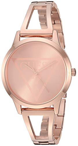 GUESS Rose Gold-Tone Logo Watch with Self-Adjustable Bracelet. Color: Gold-Tone (Model: U1145L4)
