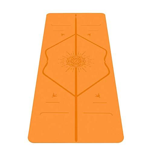 LCZB Felicidad Yoga Mat, Sistema de Alineación Patentada, Estera de Yoga Ecológica Antideslizante, Estera de Extracción Biodegradable, Resistente Al Sudor, para Mayor Comodidad.