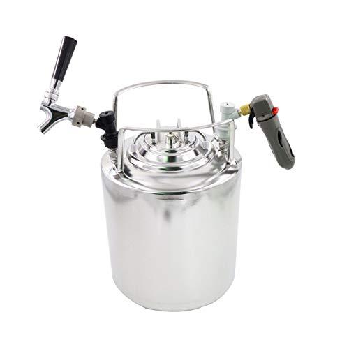 Barril De Cerveza De Acero Inoxidable 304 para El Hogar De 10L, Tanque De Jarabe para Bebidas Carbonatadas, Barril De Fermentación, Herramientas De Elaboración De Cerveza para El Hogar (Talla