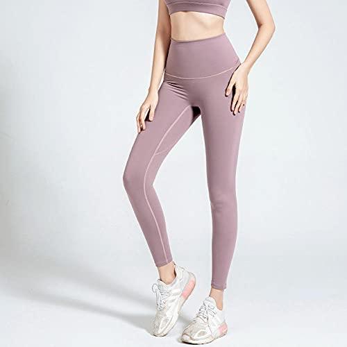 MQQM Leggings Push Up,Pantalones de Yoga Super elásticos de la Cadera, Medias Deportivas de Cintura Alta-Púrpura Ligero_M,Deporte opacos Pantalones