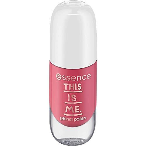 essence this is me. gel nail polish, Gellack, Nagellack, Nr. 02 happy, nude, gelig, ohne Aceton, vegan, ohne Alkohol (8ml)