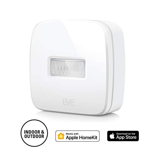 Eve Motion - Sensor de movimiento inalámbrico, Bluetooth Low Energy, non occorrono bridge o gateway, blanco (Apple HomeKit)