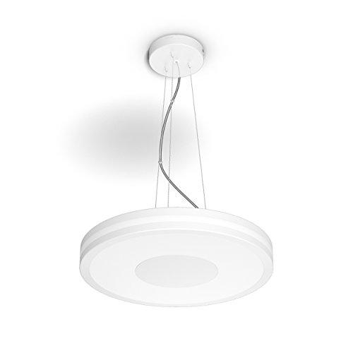 Philips Hue Being Lámpara Colgante Inteligente con Mando, Luz Blanca Cálida a Fría, Posibilidad de Control por Voz