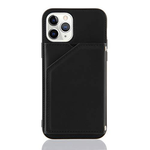Schutzhülle für iPhone 11 Pro (5,8 Zoll), Kreditkartenfächer, Schwarz