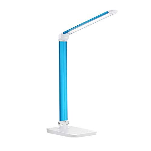 Binn Lámpara de Escritorio Led Lámpara de Escritorio LED Mesa de Metal con Cuidado de Ojos 7 Brillamiento Lámpara de Escritorio de Lectura Ajustable de Lectura con Ruedas con Puerto de Carga USB