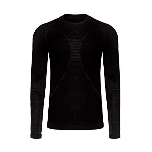 X Bionic aPaNI mérinos by UW LG-SL Roundneck, Maillot sous-vêtement Thermique Homme XXL Noir/Noir
