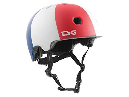 TSG Meta Graphic Design Casque – Globetrotter | Bleu/blanc/rouge | XXL