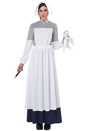 California Costumes American Civil War Nurse Adult Costume-Medium White/Grey