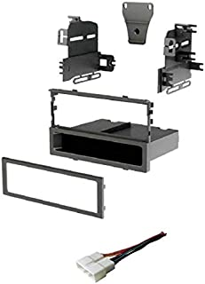 Car Stereo Dash Install Mount Kit and Wire Harness for Installing an Aftermarket Single Din Radio for Select 1997-2001 Acura and Honda Vehicles - Compatible Vehicles Listed Below