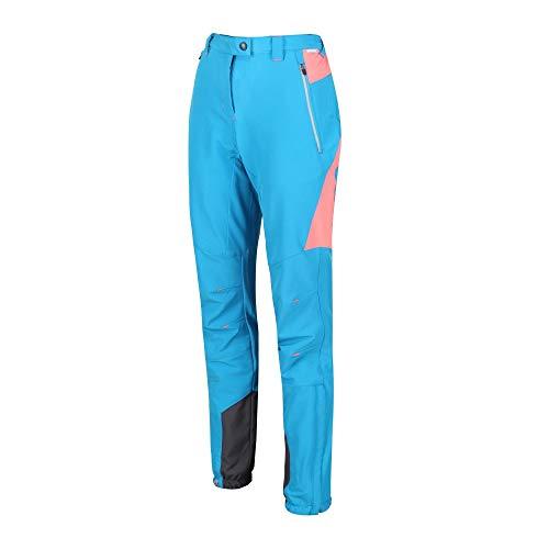 Regatta Damen Womens Mountain Water Repellent Stretch Hiking Trousers Hose, Petrol/Atlantis, 36