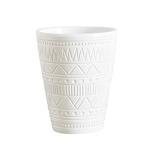 植木鉢 おしゃれ 陶器鉢 プランター 5号 ホワイト 多肉植物 鉢 観葉植物 鉢は部屋 リビング ルーム オフィス レストラン 庭園の装飾に適しています 竹製トレイ付き 直径14cm 豊富な色選択肢 HLGB-071901